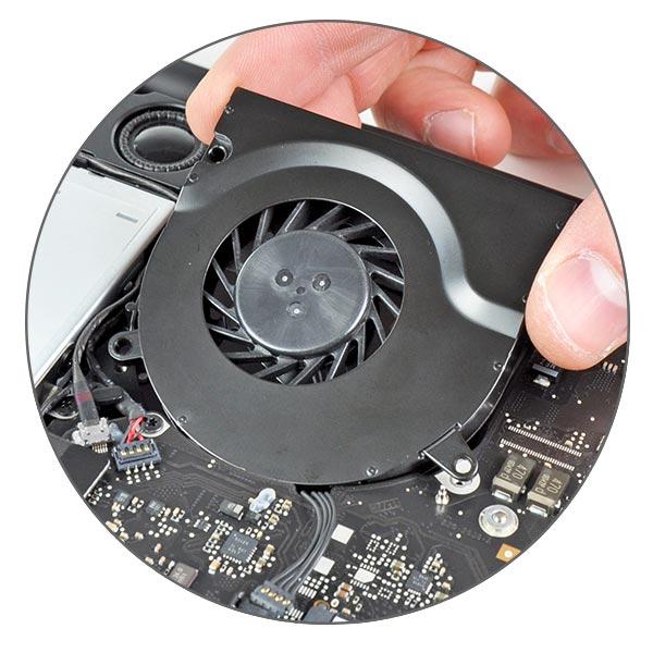 Чистка системы охлаждения MacBook Pro