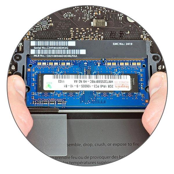 Увеличение оперативной памяти MacBook Pro