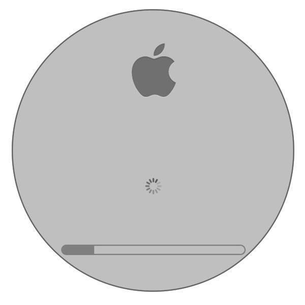 бесконечная загрузка MacBook, бесконечная ромашка