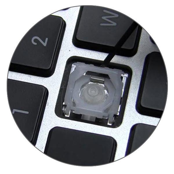 Если не работает механизм кнопки в клавиатуре MacBook Pro его можно заменить отдельно