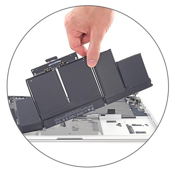 Батарея MacBook Pro Retina приклеена к корпусу
