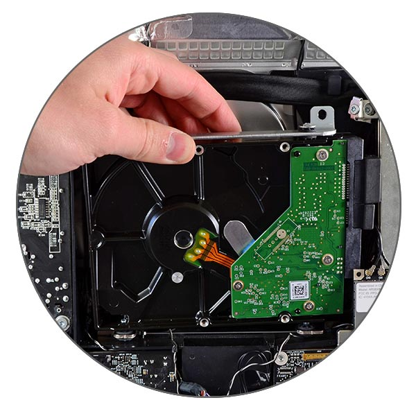 Ремонт и замена жесткого диска iMac 27″ A1312