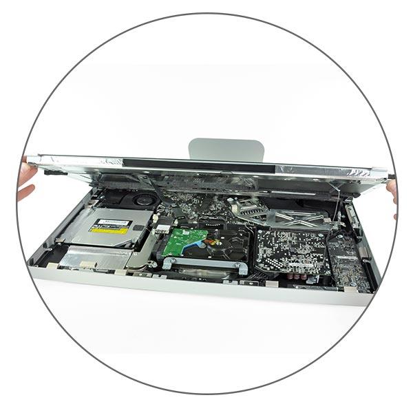 Чистка от пыли и замена термопасты iMac 27″ A1312